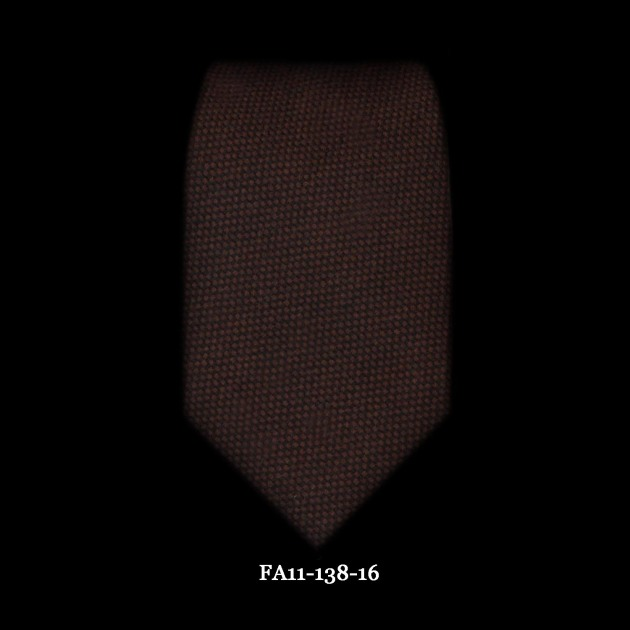 Astor & Black Brown Wool Solid Tie FA11-138-16#