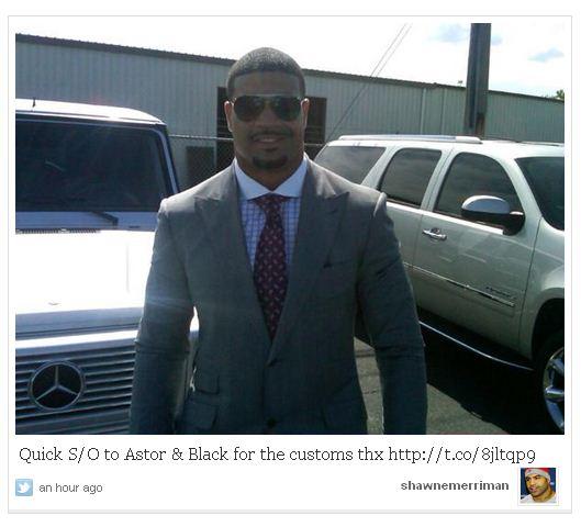 Shawne Merriman Tweet Astor & Black
