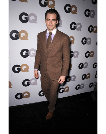 Chris Pine at GQ's Man of the Year Event (Astor & Black)