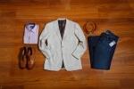 Beige Patch Pocket Custom Jacket