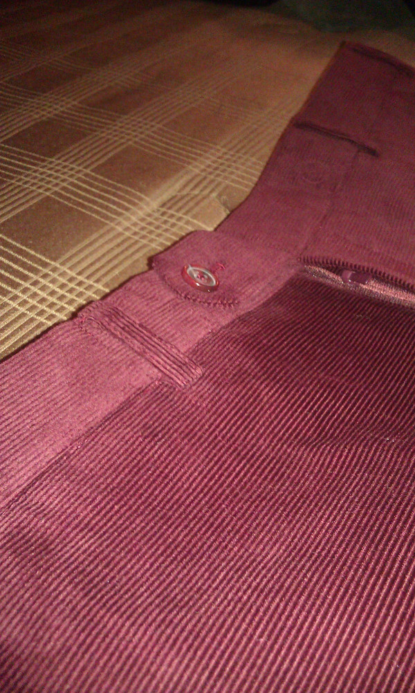 Horizontal Corduroy Pants