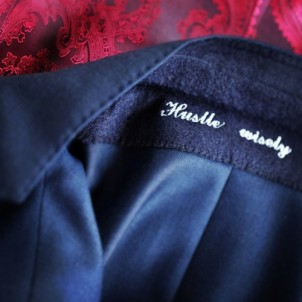 Astor & Black Under the Collar Embroidery
