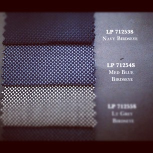 Astor & Black Blue Birdseye Suit-- Loro Piana Fabric LP71254S. 100% Super 150's Wool. $1999.