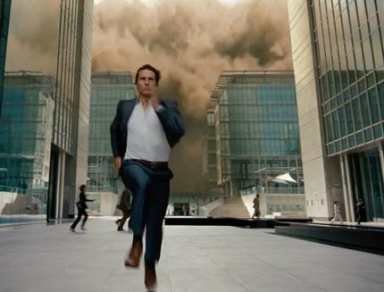 Mission Impossible--Ghost Protocol. Tom Cruise Blue Birdseye Suit.