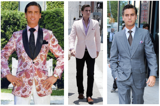 Scott Disick Custom Astor & Black Suits