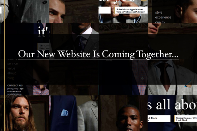 Astor & Black: Our New Website Is Coming Together.