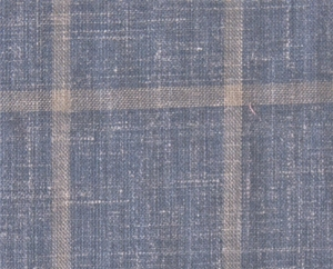 This medium blue and beige windowpane cloth looks like linen, but is much softer due to the wool/silk/linen blend. LP71515PL (50% Wool, 25% Silk, 25% Linen, 9oz/yd) $1,500/jacket