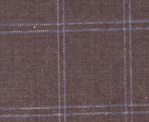 This beautiful brown and blue windowpane cloth would look amazing in one of our unconstructed models. Imagine it unlined with taped seams. LP71501PL (100% Wool Super 120's, 8.5oz/yd) $1,500/jacket.