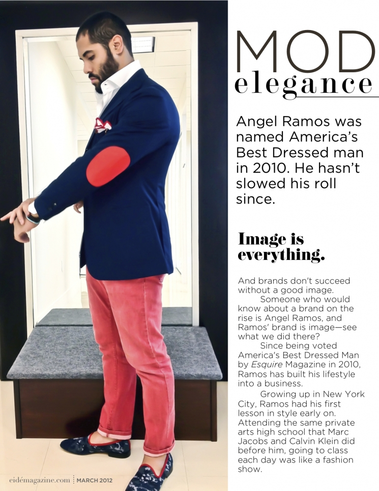 Angel Ramos featured in eide Magazine-- Astor & Black Miami