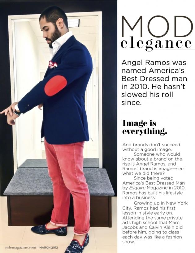 Angel Ramos featured in eide Magazine-- Astor & Black Miami