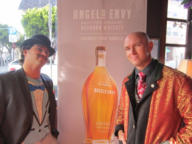 Ricky Paiva and Deric Witt make a statement at the Angel's Envy Derby event.