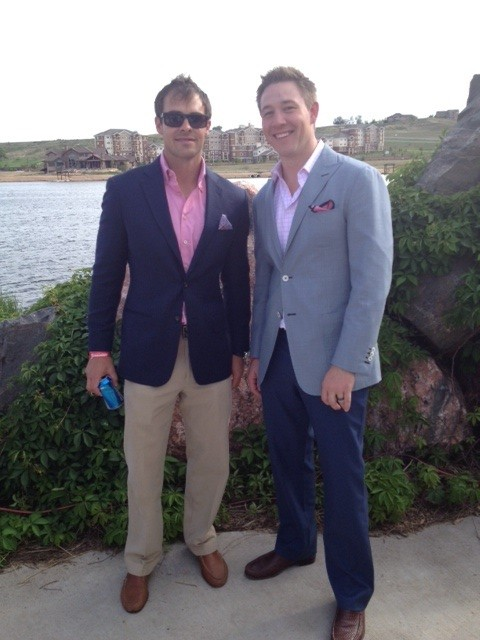 Clients Greg Gebhardt and Jason Hutt, styled by Master Clothier and Regional Director, Paige Hutt.
