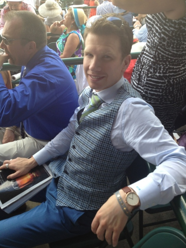 Client Toni Bakken rocking his Astor & Black at the Derby, styled by Professional Clothier, Berel Rapoport.